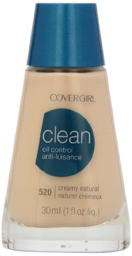 CoverGirl Clean Oil Control Liquid Makeup, Creamy Natural (N) 520, 1.0-Ounce Bottles by COVERGIRL
