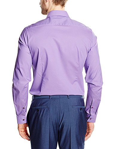 Seidensticker uno Super Slim, Camicia Formale Uomo Lila