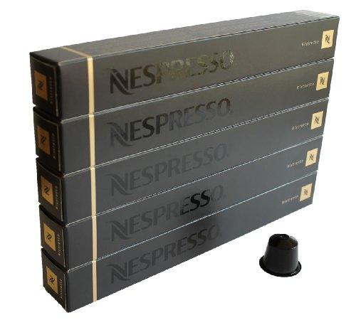 Nespresso Capsulas negra negro - 50x Ristretto - Original Nestlé - Espresso cafe - Surtido