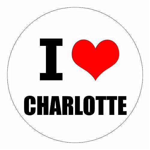 I love Charlotte North Carolina in 2 Größen erhältlich Aufkleber mehrfarbig Sticker Decal