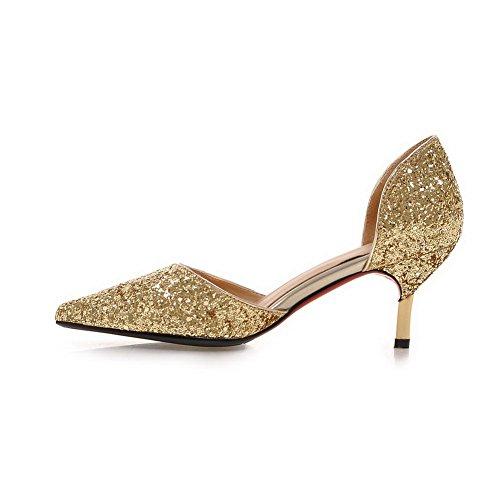 BalaMasa col Scarpe Oro tacco donna 66TqraxHw