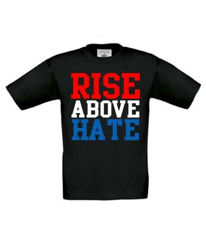 """Rise sopra Hate """"ispirato da John Cena, WWE wrestling T shirt per bambini, colore: nero"""
