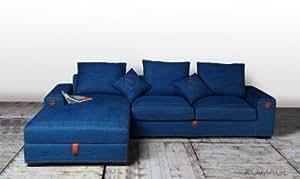 Canapé d'angle en jeans design baby