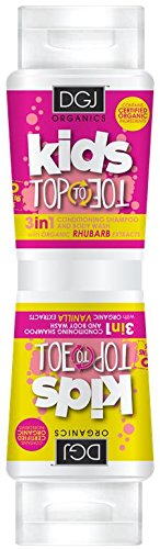DGJ Organics Kids Top to Toe 3 in 1 Body Wash Rhubarb and Vanilla 250ml