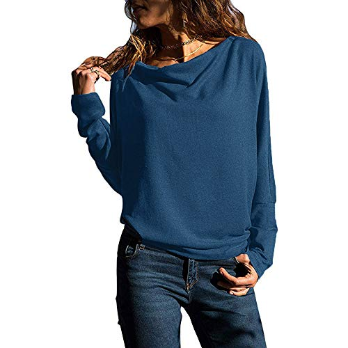 HARRYSTORE Frauen Casual Wrap Front V-Ausschnitt Langarm-lose Fit Basic Bluse Shirt Tops Frauen V-Ausschnitt Herbst Langarm Top Kapuzenpullover Patchwork Pulli mit Kordel Zip -