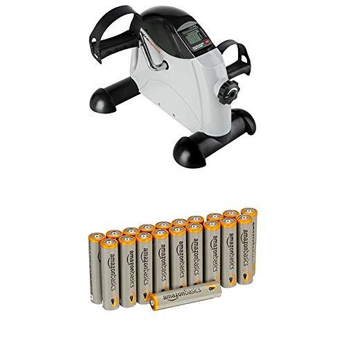 Ultrasport Mini Bike , Arm- und Beintrainer, Heimtrainer, Minifahrrad, MB 100 mit AmazonBasics Batterien