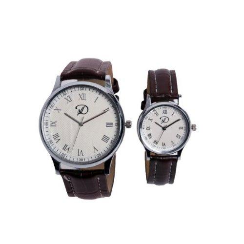 Deroni DWR-006-P  Analog Watch For Couple