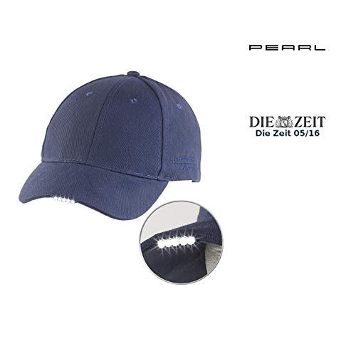 PEARL Mütze mit LED: LED-Schirmmütze mit 5 Highpower-LEDs (Kappe mit Licht)