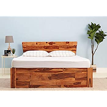 Wakefit Auriga Sheesham Bed with Storage (King Size Bed), Solid Wood Double Bed