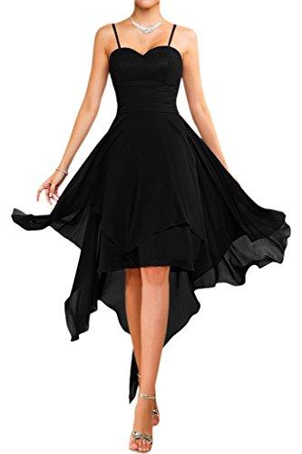 Victory Bridal alla moda senza spalline sera abiti corti Chiffon estate vestiti danza abiti da sposa damigella d' onore abiti Schwarz-traeger