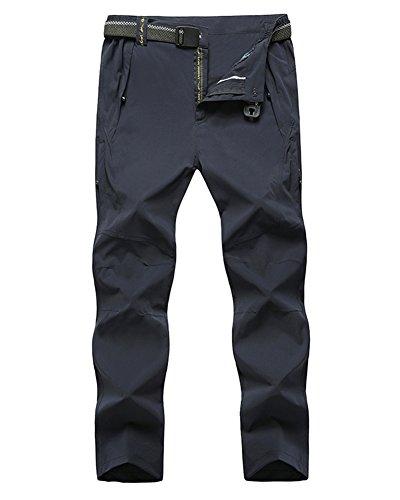 LaoZanA Pantalon Trekking Hombre Transpirable Secado