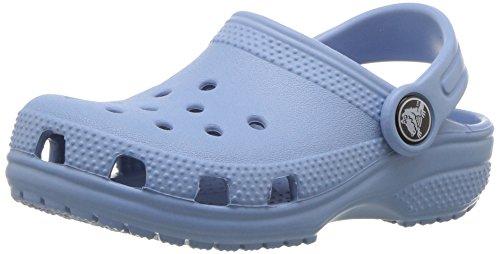 Crocs classic clog, zoccoli unisex-bambini, blu (chambray blue), 30/31 eu
