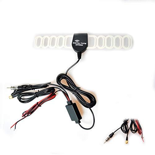 Antenne Verstärker Verbinder Klebeantenne Booster Universal Antennenkabel für Analog/Digital DVB-T ATSC ISDB TV(SMA + Radio + Leistung Stecker) ()