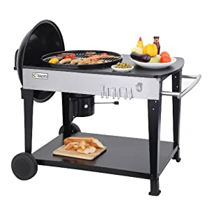 412bDzd7e L. SS300  - Tepro Belmont Kettle Barbecue-Black
