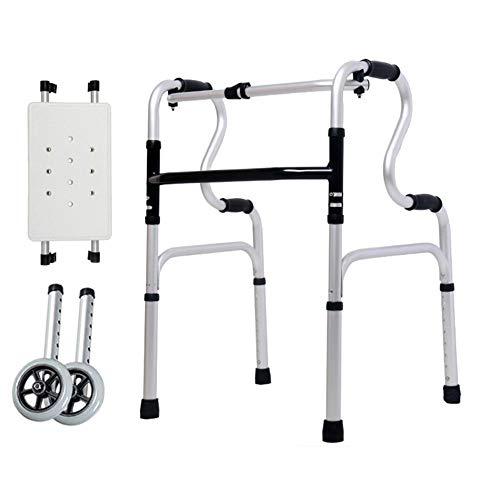 SXFYMWY Verstellbare Höhenrahmen, die leicht Aluminiumwalker für Senioren mit älterer Behinderung abwerfen,D