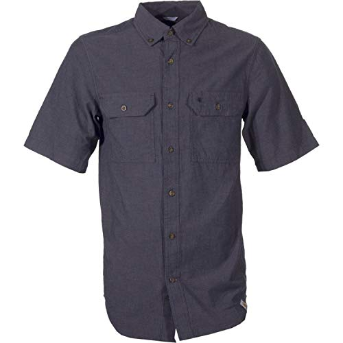 Carhartt Fort Solid Kurzarm Hemd, Black Chambray, S