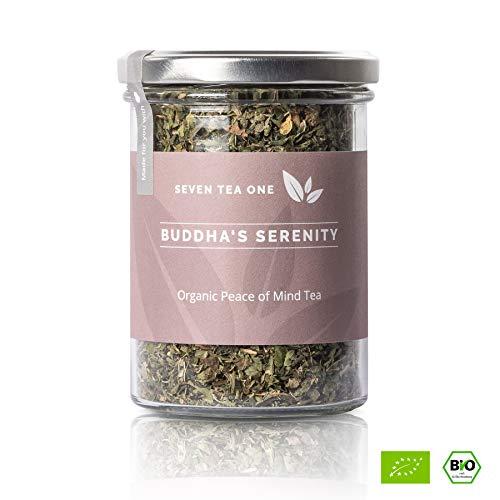 Buddha's Serenity Anti-Stress-Tea - tè calmante con melissa, camomilla e ortica - tè per il corpo e l'anima - potenziatore naturale dell'umore - BIO-certificato