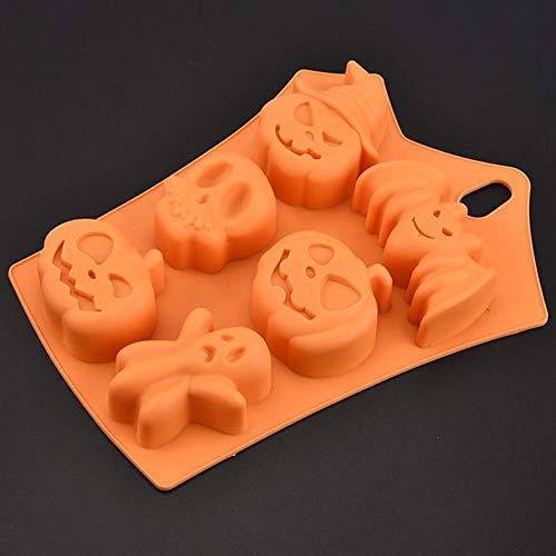 Queta Halloween Chocolat en Silicone Modèle Ice Moule à Cuisson Manuel Modèle DIY décoratifs Moule à Cake