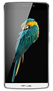 """Neffos C5 Max Smartphone 4G, Display 5.5"""" IPS, Memoria 16 GB, RAM 2 GB, Dual SIM, Octa-Core, Android 5.1 Lollipop, Bianco/Perla [Italia]"""