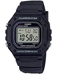 Casio Youth Digital Black Dial Unisex's Watch-W-218H-1AVDF (I108)