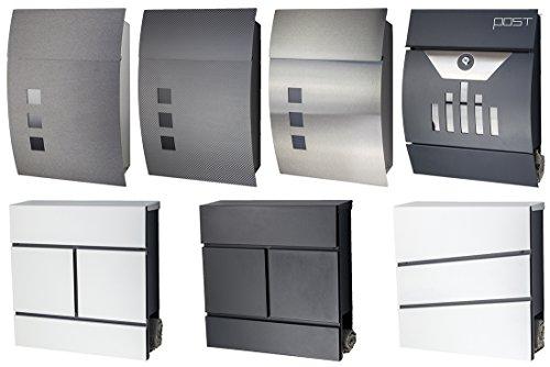 Designer Briefkasten / Mailbox / Modell 333 Edelstahl 18/0 mit Schutzlackierung und Zeitungsfach / NUR 1 x VERSANDKOSTEN FÜR ALLE BESTELLUNGEN ZUSAMMEN !!! - 5