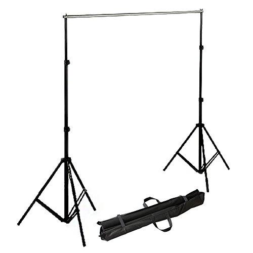 RPGT 2 x 2,8 m Fotostudio Set Hintergrundsystem Foto studio 2 Stative Hintergrund inkl. Tasche mit separaten Einschüben