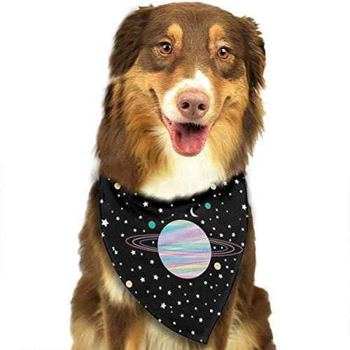Hipiyoled Big Universe Pet Bandana Triangle Bibs Scarfs Accessori 27,6x11,8 Pollici