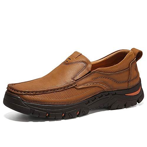 Men's Fashion Oxford Casual Ande Comode Scarpe con Tacco a Spillo sulle Scarpe Formali,Scarpe da Cricket (Color : Cachi, Dimensione : 44 EU)
