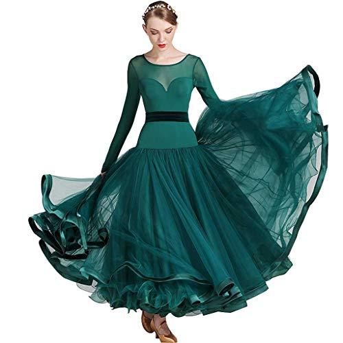RJ Kleid Modern Dance Rock Kleid, Kostüm Performance Kostüm (Color : Dark Green, Size : S)