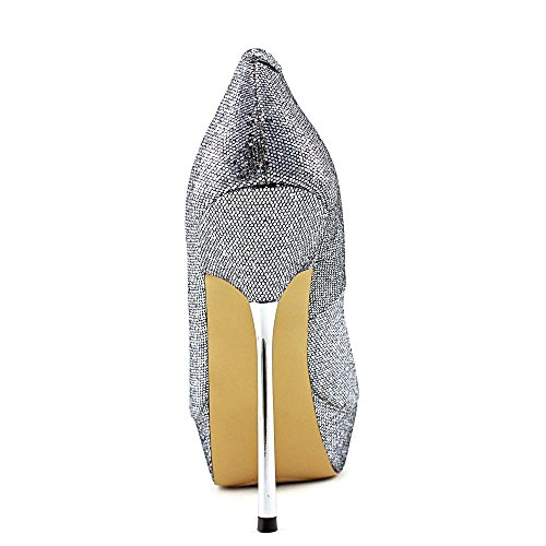 Steve Madden P-GLACEE Synthétique Talons Pewter