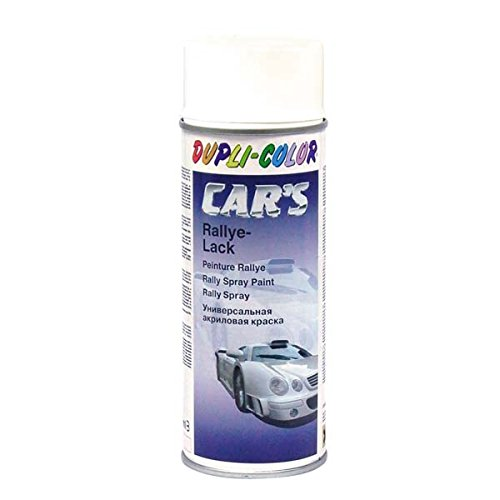 Duplicolor 385896 Spray de Pintura para Coches, Color Blanco Brillante, 400 ml