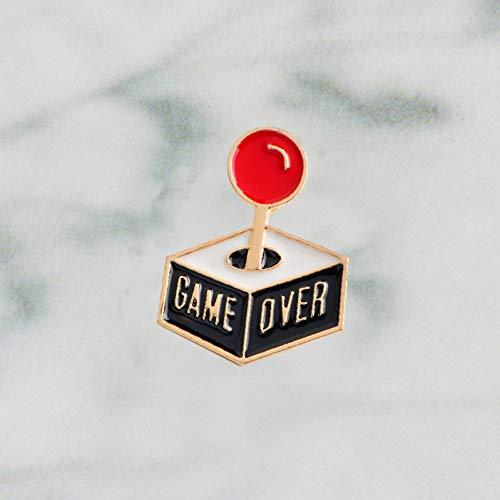 JTXZD Brosche Spiel über Konsole Pin Kawaii niedlichen Pins Abzeichen Anstecknadel Für Ihre Einkaufstasche Hut Jacken s Pins und Broschen -