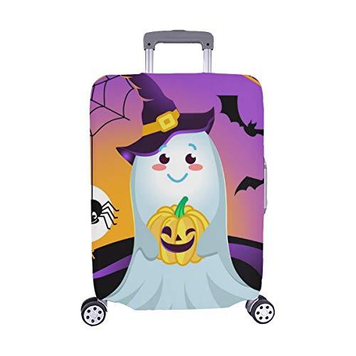 (Nur abdecken) Halloween Urlaub Form lächelnd Art Staubschutz Trolley Protector case Reisegepäck Beschützer Koffer Cover 28,5 X 20,5 Zoll (Urlaub Art Halloween)