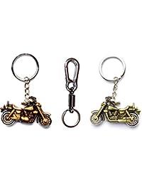 MGP Fashion Combo Of Antique Bike Shape & Spring Hook Locking Key Chain