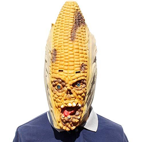 Latex-Maske Für Halloween, Lustige Prank-Maske, Mais-Horror-Maske, Geeignet Für Halloween-Kostüm Party Und Maskerade