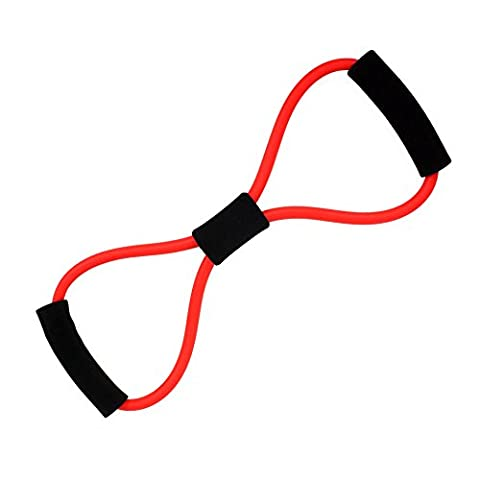 Andux Zone pilates Bande Résistance Exercice Yoga Aérobic Fitness Elastique TLD-08 (rouge)