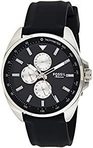Fossil MENS AUTOCROSS SILICONE WATCH BQ2553, BLACK