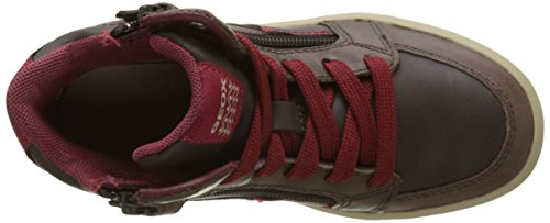 Geox J Arzach Boy F, Chaussons montants garçon Marron (Coffee/dk Red)