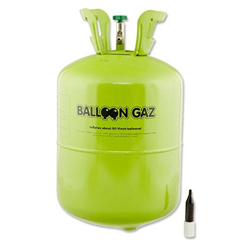 Leisure BallonGaz Helium Ballongas XXL Einwegflasche für ca. 50 x 23cm Ballons (Made in Europe)