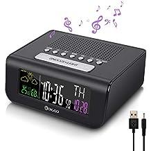 DIGOO Reloj Radio Despertador Digital, Digital Despertador con Radio FM, Función de snooze,