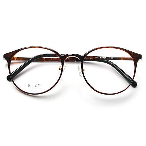 VEVESMUNDO Brillen ohne sehstärke Damen Herren Brillengestelle Brillenfassung Große Retro Rund Vintage TR90 Fakebrillen Deko Brille Streberbrille Nerdbrille Pantobrille mit Brillenetui (Schildpatt)