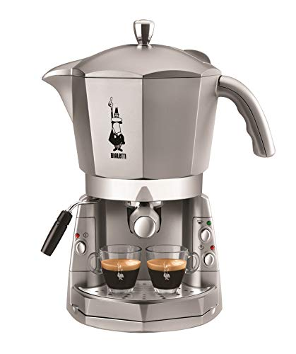 Bialetti Mokona Silver, Macchina Caffè Espresso, Sistema Aperto (per Macinato, Capsule Bialetti e Cialde)