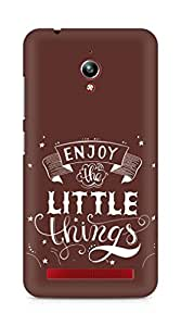 AMEZ enjoy the little things 2 Back Cover For Asus Zenfone Go ZC500TG