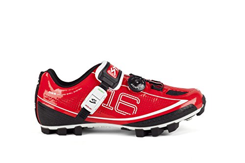 Spiuk 16M MTB Sneakers, Unisex, Red, 49