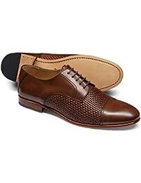 Tan Woven Derby Shoe by Charles Tyrwhitt