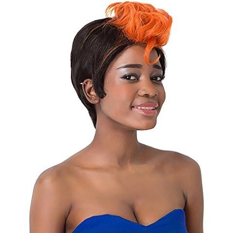 aicos corto naranja HIGHLIGHT sintético Fluffy peluca mujer Bump