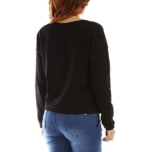 La Modeuse - Sweat femme à manches longues Noir