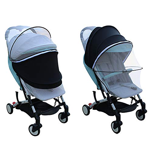 Ezkindheit 2 in 1 anti-uv zanzariera per passeggino, capottina parasole per passeggino,copri passeggino multifunzionale di dimensioni universali