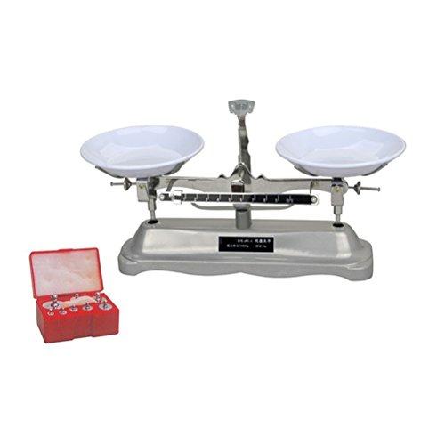 Detalles: Este es un práctico y útil equipo de medición de laboratorio -----GGODELNWELL de alta calificación mecánica balanza de mesa. Esta es la báscula de equilibrio de mesa de 1000 g/1 g. Según el principio de barra horizontal, hay una pequeña ban...