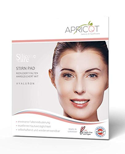 NEU! APRICOT beauty & healthcare Stirn Pad aus medizinschem Silikon mit hochwirksamem Hyaluron, Silicone care Stirn Pad mit Hyaluron gegen Stirnfalten, Zornesfalten, bis zu 30 Anwendungen! -